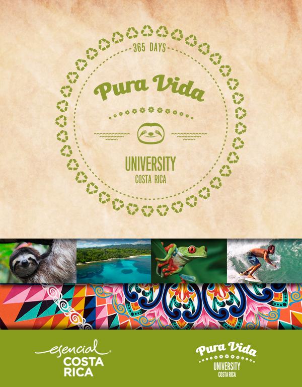 Pura Vida University. Turismo de Costa Rica