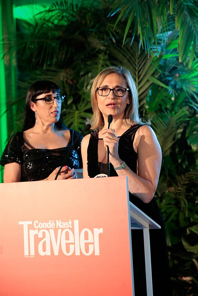 Marimar Laveda receiving the prize Traveler 2017. Copyright CN Traveler España